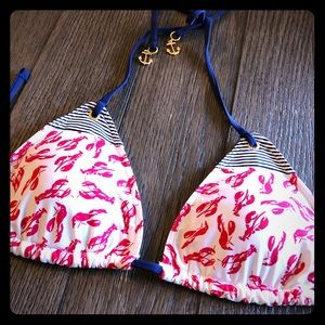 Sperry Top Sider lobster print bikini top